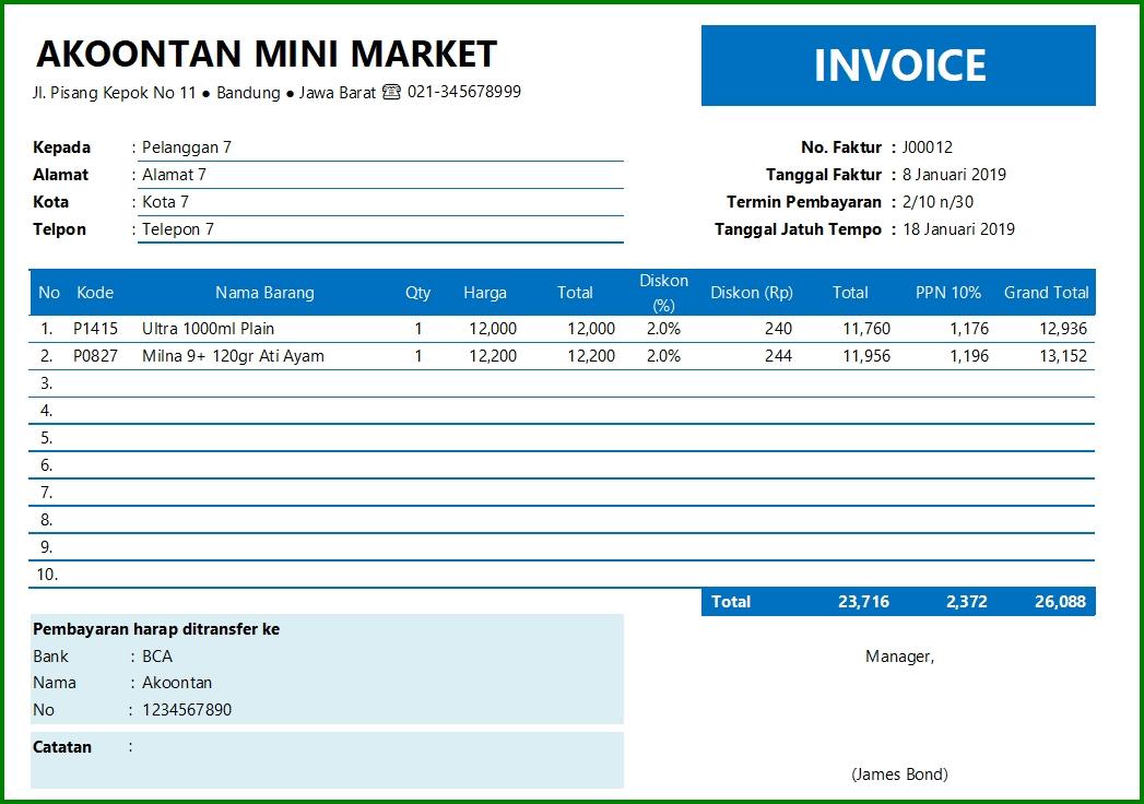 Aplikasi Penjualan dan Persediaan - Form Faktur Penjualan