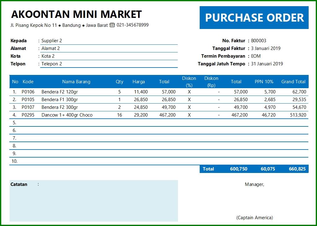 Aplikasi Penjualan dan Persediaan - Form Pembelian Barang