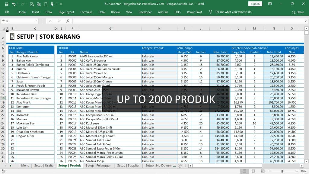 Aplikasi Penjualan dan Stok Barang - Setup Produk