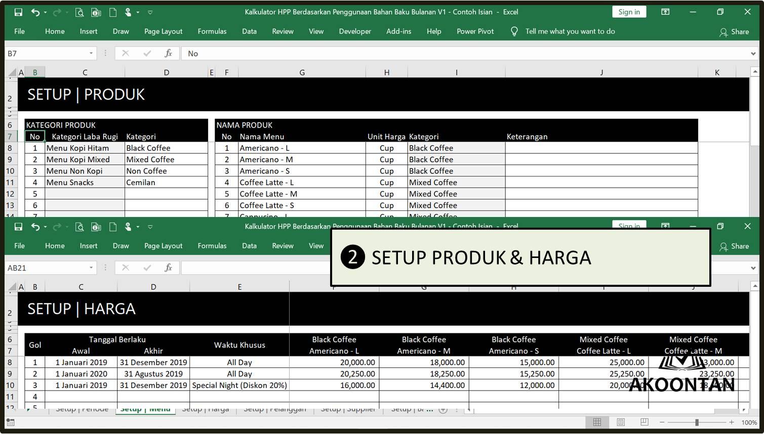 HPP Usaha Manufaktur - Setup Produk