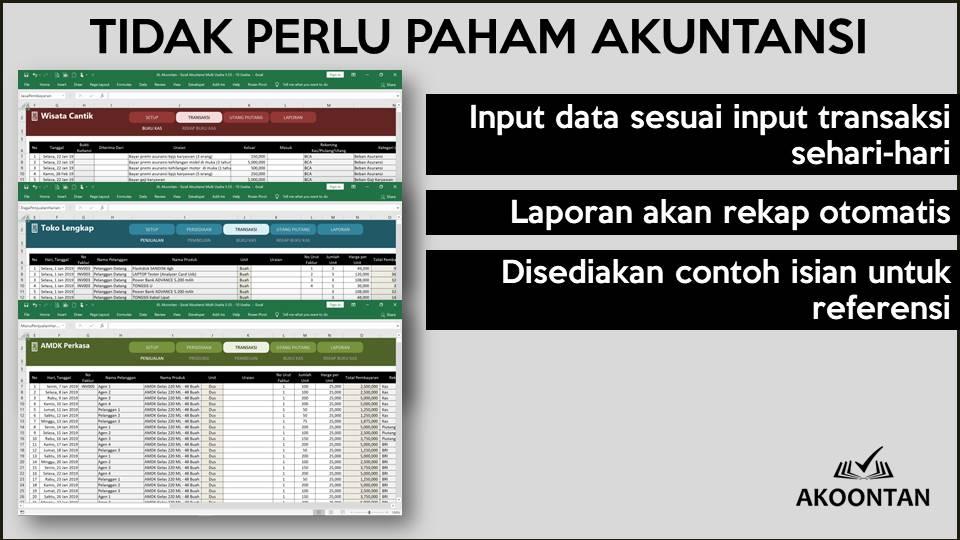 Pembukuan Multi Usaha - Tidak Perlu Paham Akuntansi