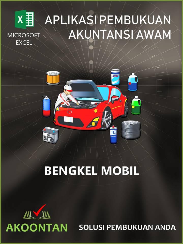 Ak074 Aw Xl Akuntansi Bengkel Toko Spareparts Mobil Akoontan