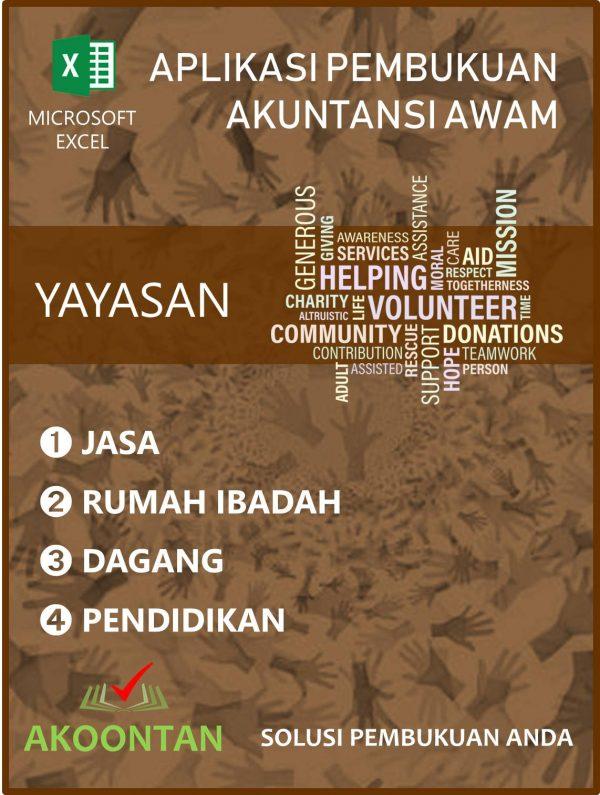 Aplikasi Yayasan Jasa - Rumah Ibadah - Dagang - Pendidikan